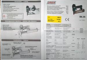 Пневматический шпилькозабивной пистолет OMER B6.35
